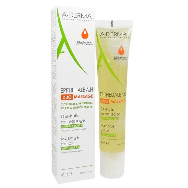 A-Derma Epitheliale A.H Duo Massage Gel - Huile Ελαιώδες Ζελ για Μασάζ Κατά των Ουλών & Ραγάδων του Δέρματος 40ml