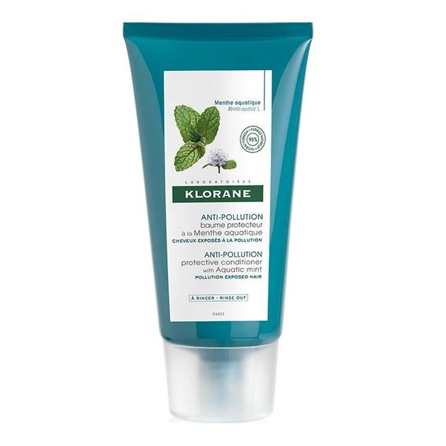 Klorane Anti-Pollution Protective Conditioner Προστατευτική μαλακτική κρέμα με Υδάτινη Μέντα 150ml