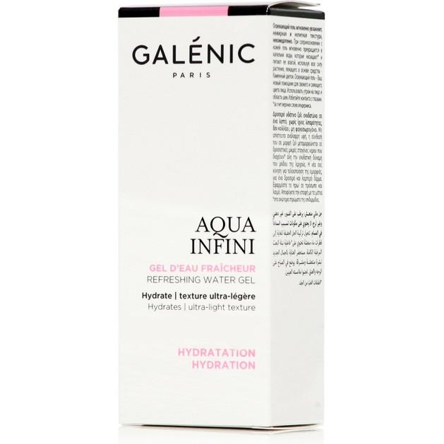 Galenic Aqua Infini Gel d\' Eau Fraicheur Δροσερό Υδάτινο Ζελ, Ενυδατώνει Χωρίς Ίχνος Λιπαρότητας 50ml