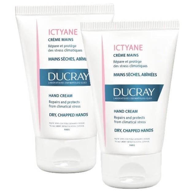 Ducray Πακέτο Προσφοράς Ictyane Creme Emolliente Hydratante 2x50ml σε Ειδική Τιμή