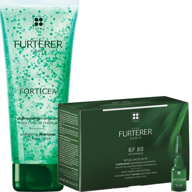 Rene Furterer Rf 80 Concentre 12amp x 5ml & Forticea Shampooing Energisant Τονωτικό Shampoo 200ml Προσφορά το 2ο Προϊόν με 1 €