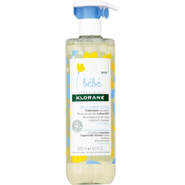 Klorane Bebe Gel Lavant Doux Calendula Βρεφικό Απαλό Ζελ Καθαρισμού για Σώμα - Μαλλιά με Οργανική Καλέντουλα 500ml Promo -25%