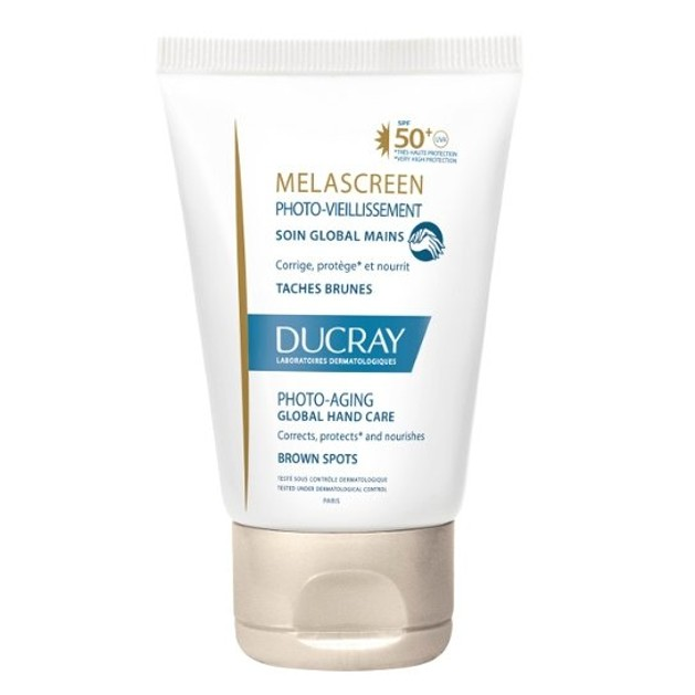 Ducray Melascreen Photo-Aging Creme Soin Global Mains  Ολοκληρωμένη Φροντίδα Χεριών Spf50+, 50ml