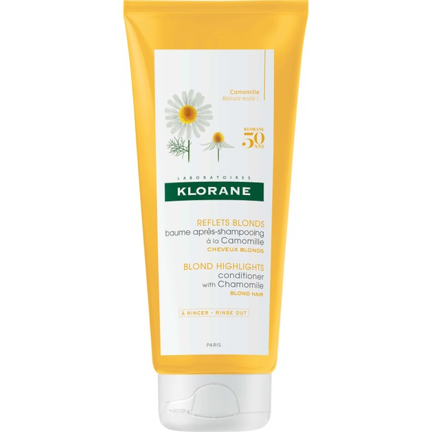 Klorane Reflet Blonds Baume Apres Shampooing a la Chamomile Μαλακτική Κρέμα με Χαμομήλι για Ξανθές Ανταύγειες 200ml Promo -25%