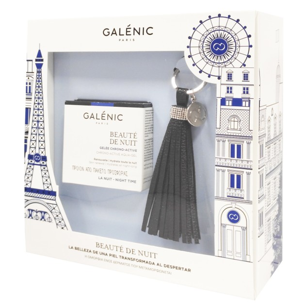 Galenic Promo Beaute De Nuit Chrono Active Aqua Gel 50ml & Δώρο Ένα Μοναδικό Accesoire με την Υπογραφή Galenic
