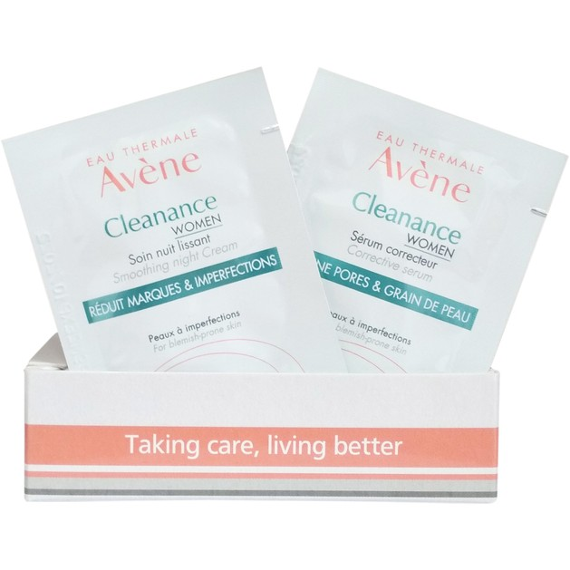 Δώρο Avene Cleanance Women Smothing Night Cream 2ml & Cleanance Women Serum Correcteur 2ml