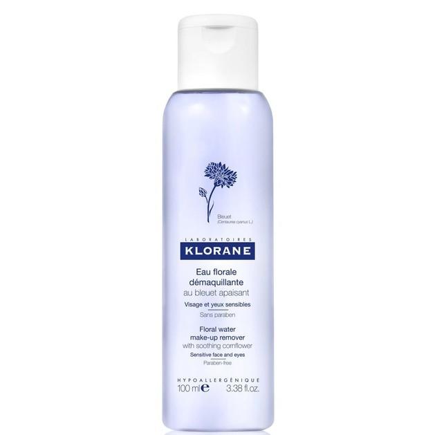 Klorane Bleut Floral Water Make Up Remover Απαλό Καθαριστικό Προσώπου & Ματιών με Ανθόνερο Κυανονταυρίδας 100ml