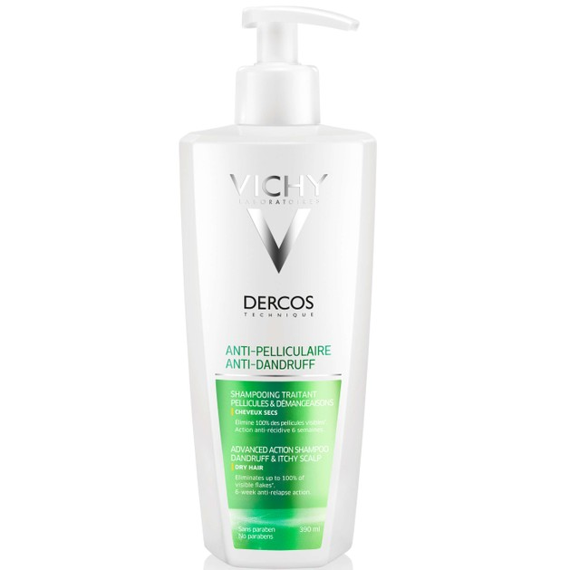 Dercos Anti-Dandruff DS Shampoo for Dry Hair 300ml & Δώρο 100ml - Vichy