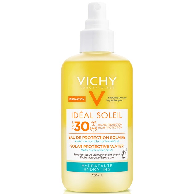 Ideal Soleil Solar Protective Water With Hyaluronic Acid Spf30, 200ml - Vichy
