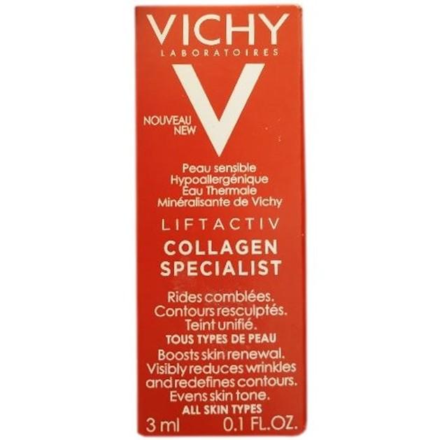 Δείγμα Vichy Liftactiv Specialist Collagen Κρέμα Ημέρας Προσώπου,Επανόρθωση των Βαθιών & Κάθετων Ρυτίδων της Επιδερμίδας 3ml