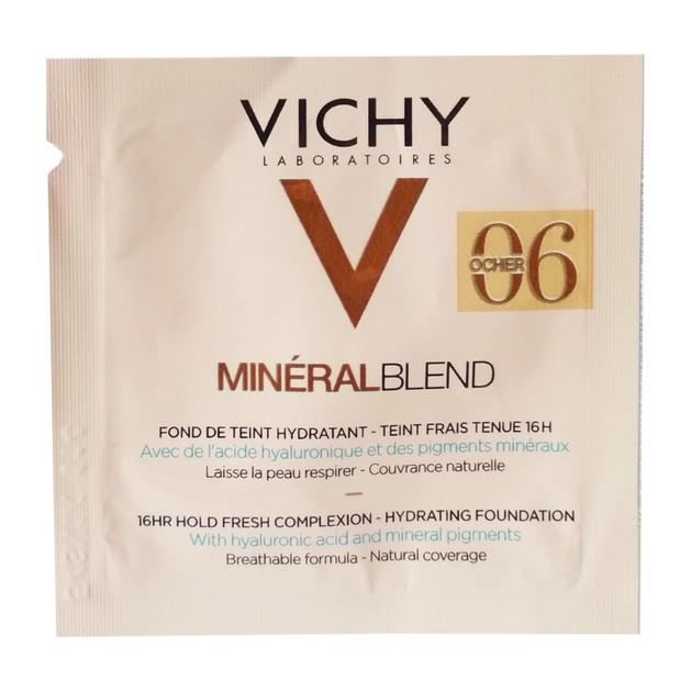 Δείγμα Vichy MineralBlend Make Up Fond de Teint Hydratant Ενυδατικό Foundation, Φυσική Κάλυψη & Επιδερμίδα Γεμάτη Φρεσκάδα 1ml