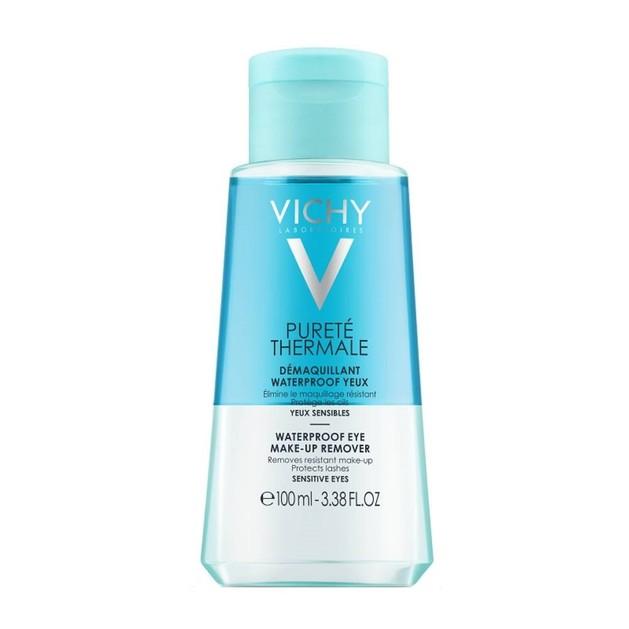 Vichy Purete Thermale Demaquillant Waterproof Yeux Διφασικό Ντεμακιγιάζ Ματιών για Αδιάβροχο Μακιγιάζ Travel Size 100ml