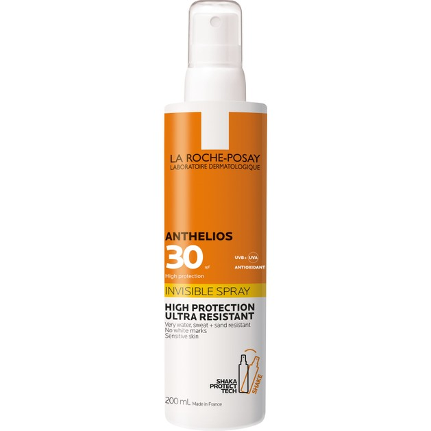 La Roche-Posay Anthelios Invisible Spf30 Shaka Αντηλιακό Spray Σώματος Υψηλής Προστασίας 200ml