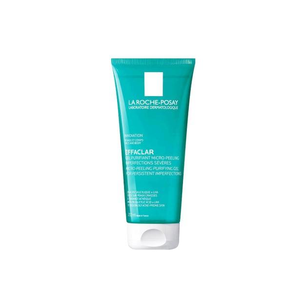 La roche-Posay Effaclar Gel Purifiant Micro Peeling για Σοβαρές Ατέλειες και Έντονα Σημάδια 200ml