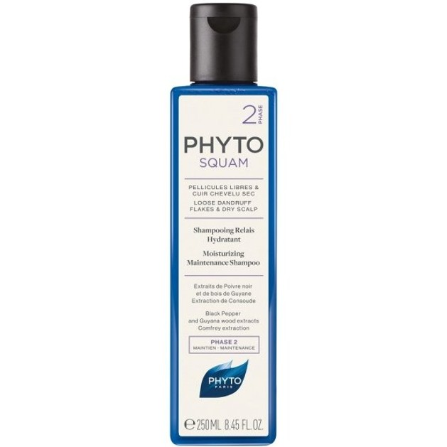 Phyto Squam Phase 2 Αντιπυτυριδικό Ενυδατικό Σαμπουάν με Εκχύλισμα Μαύρου Πιπεριού 250ml