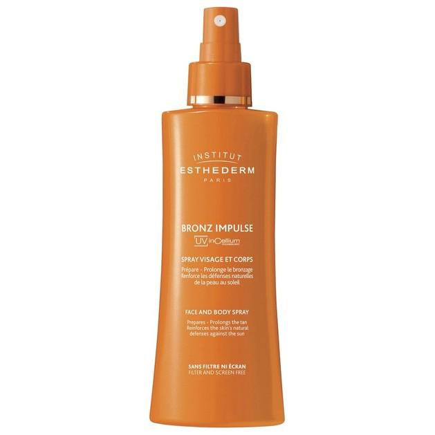 Institut Esthederm Bronz Impulse Face And Body Spray Προετοιμάστε το Δέρμα σας για Μαύρισμα 150ml