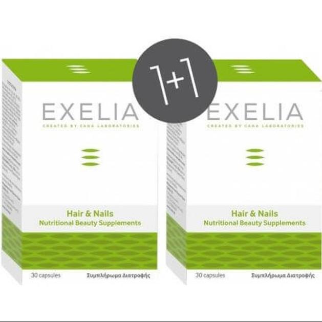 Exelia Πακέτο ΠροσφοράςHair & Nails Συμπλήρωμα Διατροφής για την Ενίσχυση της Υγείας των Μαλλιών & των Νυχιών 30caps 1+1 Δώρο