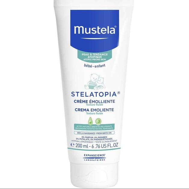 Mustela Stelatopia Creme Emolliente Μαλακτική Κρέμα για Βρεφική Ατοπική Δερματίτιδα Πλούσιας Υφής 200ml