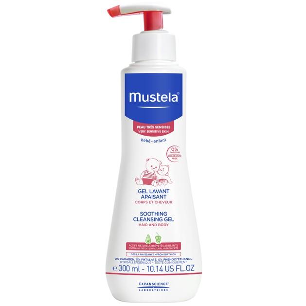Mustela Soothing Cleansing Hair & Body Gel Βρεφικό Καταπραϋντικό Καθαριστικό Τζελ για Μαλλιά & Σώμα 300ml