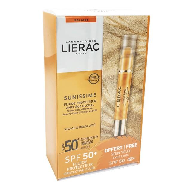 Lierac Πακέτο Προσφοράς Sunissime Fluide Protecteur Spf50+, 40ml & Δώρο Soin Protecteur Yeux Anti-Age Global Spf50, 3g