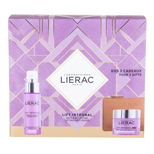 Lierac Promo Lift Integral Serum 30ml & Δώρο Lift Integral Nutri Rich Cream 50ml & Rue des Fleurs Δερμάτινο Πορτοφόλι