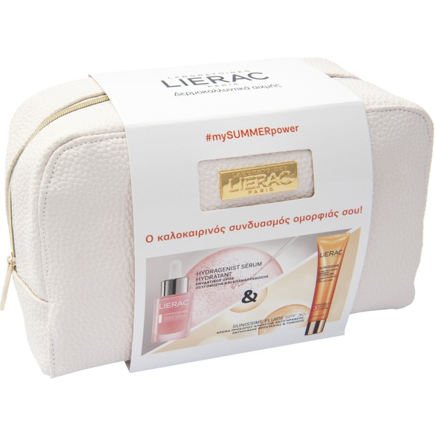 Lierac Πακέτο Προσφοράς Hydragenist Serum Ορός Ενυδάτωσης Οξυγόνωσης Επαναπύκνωσης 30ml & Sunissime Fluide Protecteur Spf30,40ml