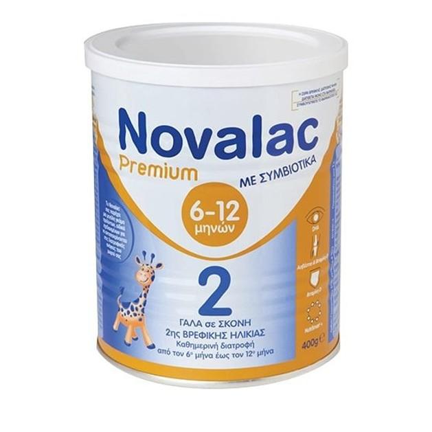 Novalac Premium No 2 Γάλα 2ης Βρεφικής Ηλικίας Από Τον 6ο Έως Τον 12ο Μήνα 400gr