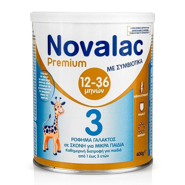 Novalac Premium Νο 3 Γάλα με Συμβιοτικά Για Ηλικίες 12-36 Μηνών 400gr