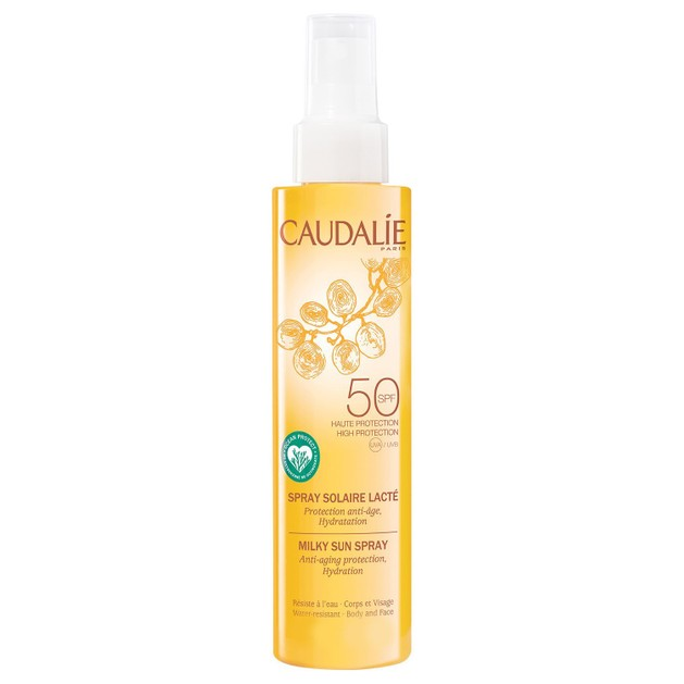 Caudalie Milky Sun Spray Spf50 Αντηλιακό Spray Πολύ Υψηλής Προστασίας για Πρόσωπο Σώμα 75ml