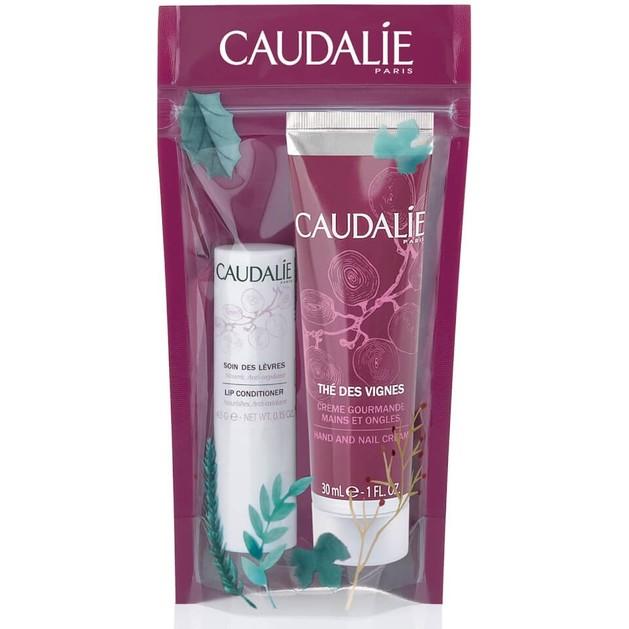 Caudalie Πακέτο Προσφοράς Duo Lip Conditioner 4.5g & The Des Vignes Hand and Nail Cream 30ml