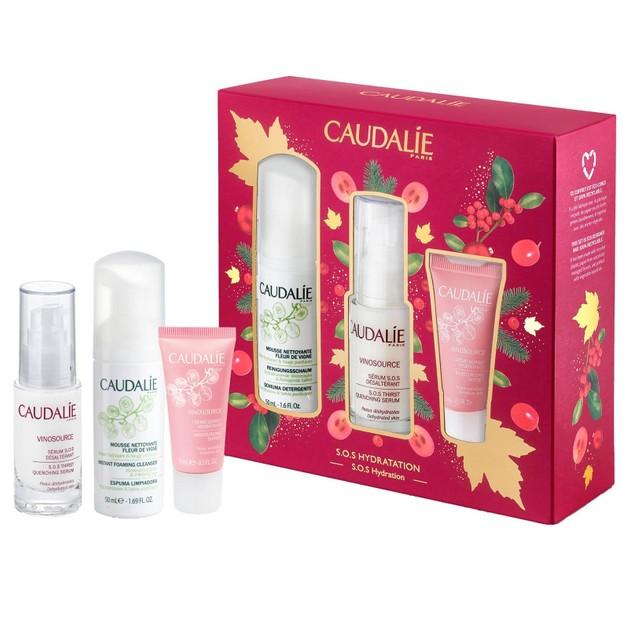 Caudalie S.O.S Hydration Promo Vinosource Serum Ενυδάτωσης 30ml & Δώρο Instant Foaming Cleanser 50ml & Moisturizing Sorbet 15ml