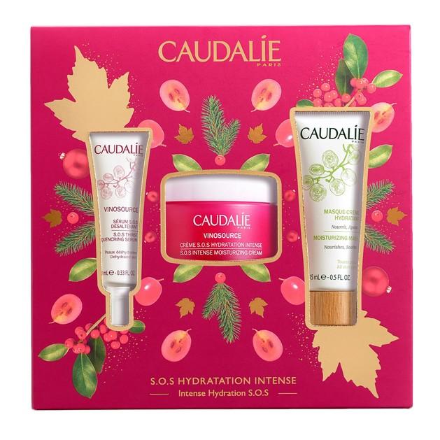 Caudalie Promo Vinosource SOS Intense Moisturizing Cream 50ml & Δώρο S.O.S. Thirst-Quenching Serum 10ml & Moisturizing Mask 15ml