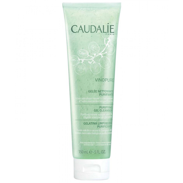 Caudalie Vinopure Purifying Gel Cleanser Καθαρίζει το Δέρμα Χωρίς να το Αφήνει Ξηρό 150ml