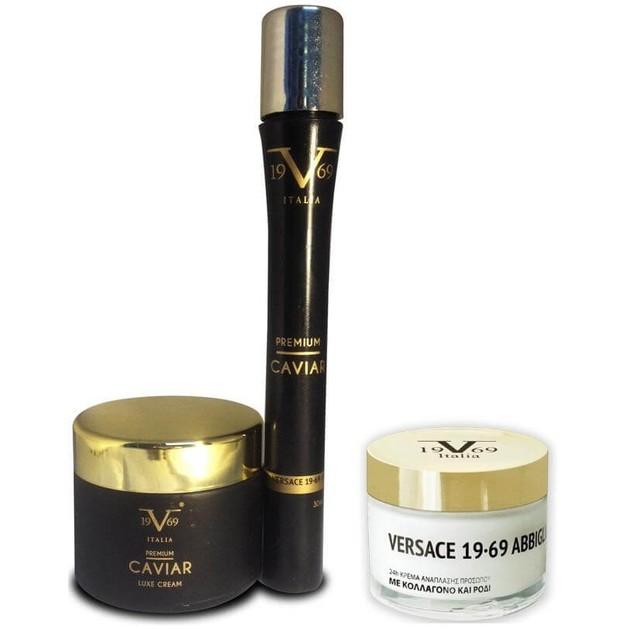 Versace Promo Premium Luxe Συσφικτική & Αντιγηραντική Κρέμα Προσώπου 50ml & Premium Caviar Serum 30ml & Cream with Collagen 50ml