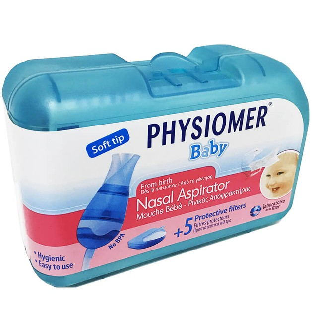 Physiomer Baby Nasal Aspirator & 5 Filters
