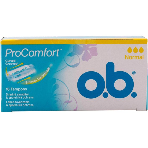 O.b. Ταμπόν Pro Comfort SilkTouch Cover Curved Normal 16τεμάχια