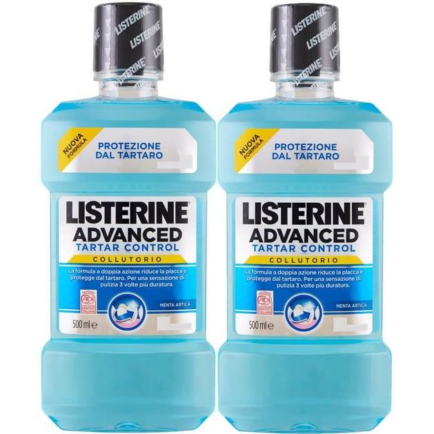 Listerine Πακέτο Προσφοράς Advanced Tartar Control Στοματικό Διάλυμα για Πρόληψη και Καταπολέμηση της Πλάκας 2 x 500ml 1+1 Δώρο