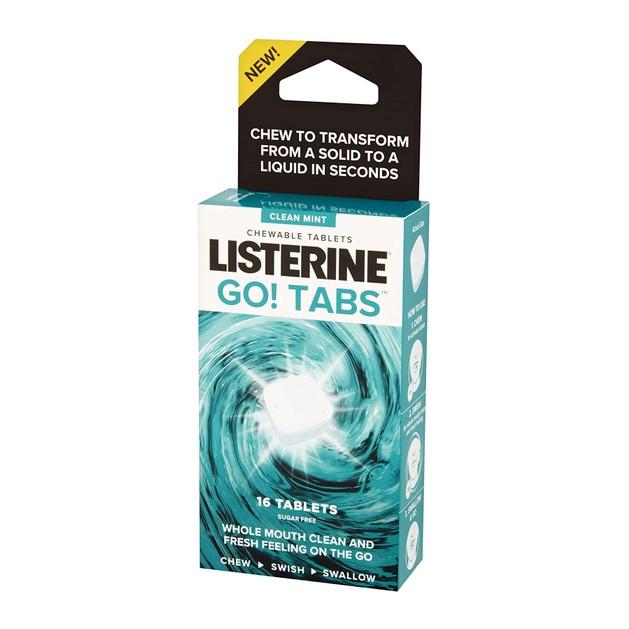 Δώρο Listerine Go! Tabs Μασώμενα Δισκία για Καθαρή και Δροσερή Αίσθηση στο Στόμα, 16 Δισκία