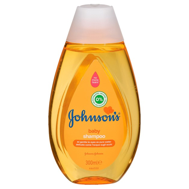 Johnson\'s Baby Shampoo Σαμπουάν Όχι πια Δάκρυα, Καθαρίζει Αποτελεσματικά Αφήνοντας τα Μαλλάκια του Μωρού Λεία και Λαμπερά 300ml