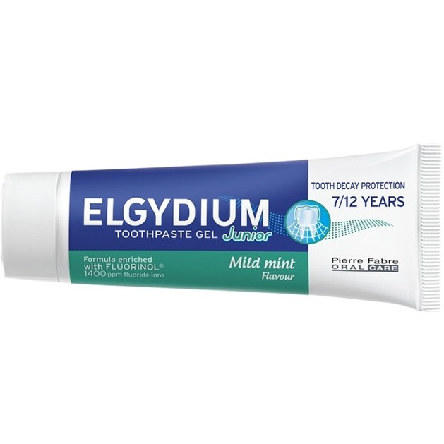 Elgydium Junior Sweet Mint Παιδική Οδοντόκρεμα με Ήπια Γεύση Μέντας 7 - 12 Ετών 50ml