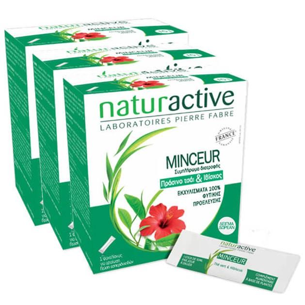 Δώρο Naturactive Minceur Liquid Βοηθάει στην Μείωση των Περιττών Κιλών 3 Sachets x 10ml