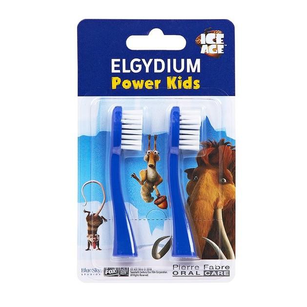 Elgydium Power Kids Ice Age Refill Ανταλλακτικές Κεφαλές για την Οδοντόβουρτσα Elgydium Power Kids σε Μπλε Χρώμα 2 Τεμάχια