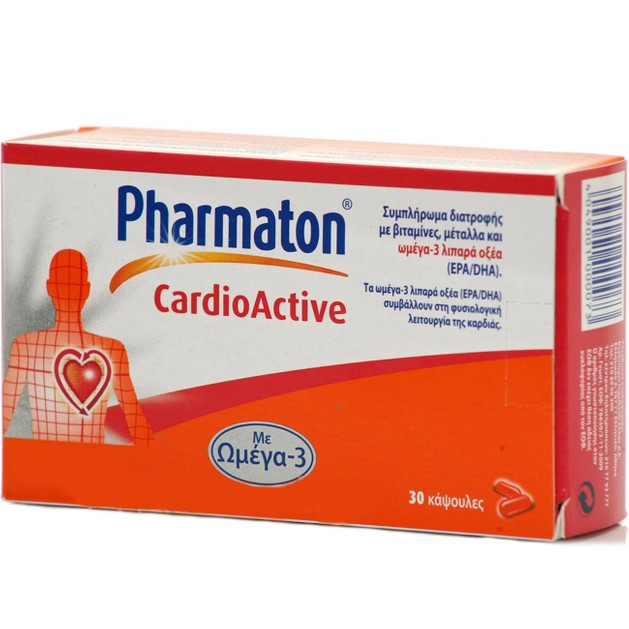 Pharmaton Cardioactive Συμπλήρωμα Διατροφής με Ωμέγα-3 για την Υγεία της Καρδιάς 30caps