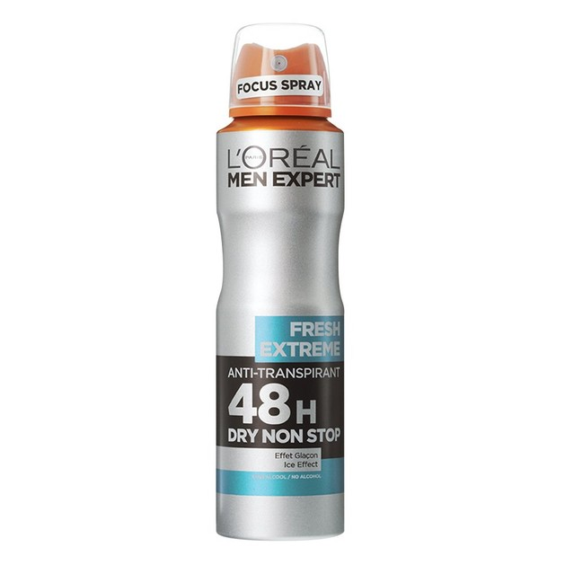 L\'oreal Paris Men Expert Fresh Extreme Spray Ανδρικό Αποσμητικό Spray με 48ωρη Ολική Προστασία για Στεγνή Επιδερμίδα 150ml