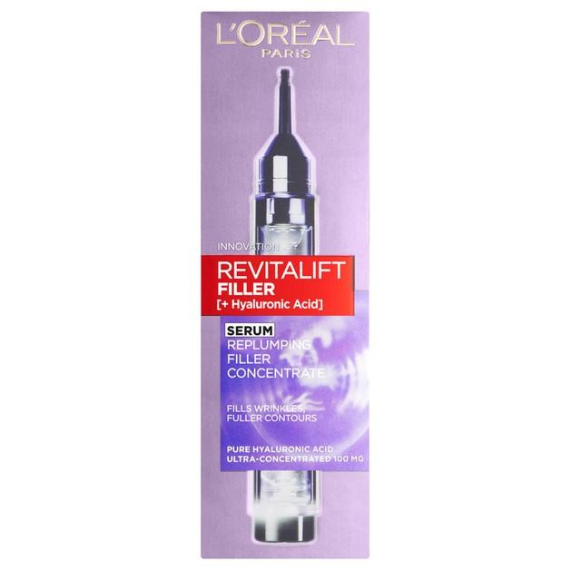 L\'oreal Paris Revitalift Filler Αντιρυτιδικός Ορός Προσώπου Εμπλουτισμένος με Υαλουρονικό Οξύ 16ml
