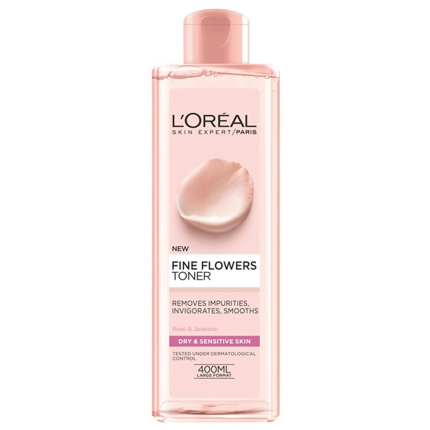 L\'oreal Paris Fine Flowers Tonic Lotion Dry-Sensitive Skin 400ml