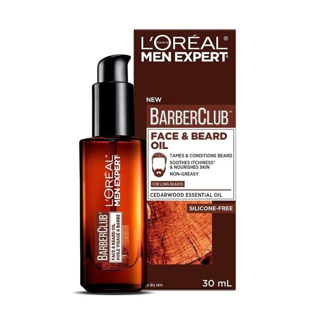 L\'oreal Paris Men Expert BarberClub Face & Beard Oil Ενυδατικό, Καταπραϋντικό Έλαιο για Πρόσωπο & Μούσια 30ml