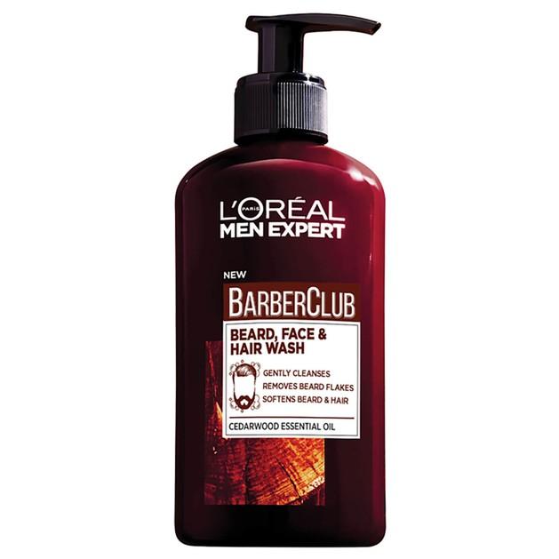 L\'oreal Paris Men Expert BarberClub Beard, Face & Hair Wash Καθαρισμός 3 σε 1 για Μούσια, Πρόσωπο & Μαλλιά 200ml