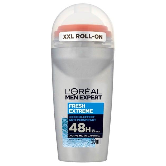 L\'oreal Paris Men Expert Fresh Extreme Roll-On Ανδρικό Αποσμητικό με 48ωρη Ολική Προστασία για Στεγνή Επιδερμίδα 50ml