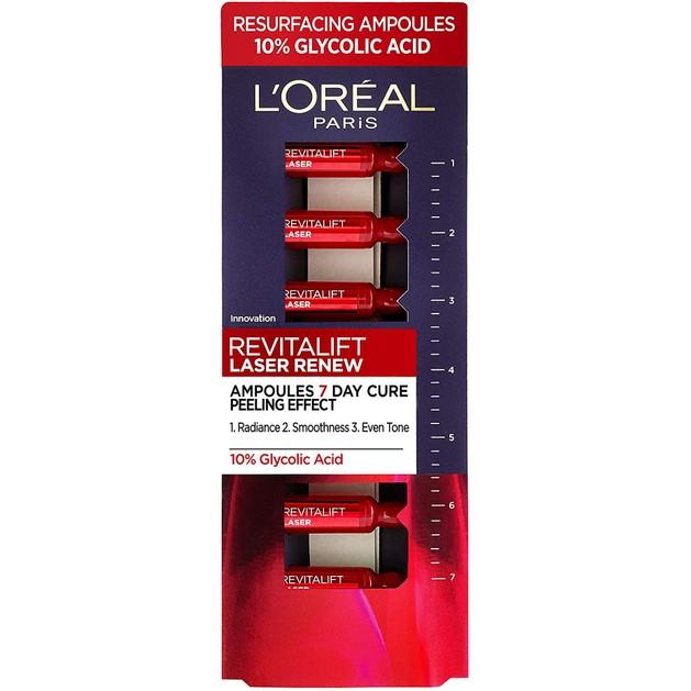 L\'oreal Paris Revitalift Laser Renew Αντιγηραντική Φροντίδα Λάμψης & Ανάπλασης 7 Ημερών 7x1ml